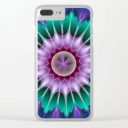 Starry kaleidscope flower Clear iPhone Case