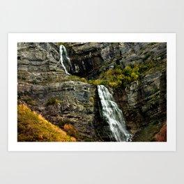 Highway Falls Art Print