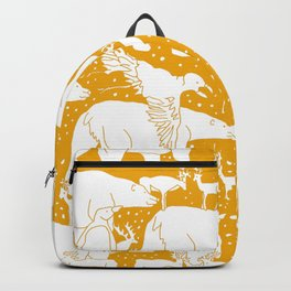 Polar gathering (orange juice) Backpack