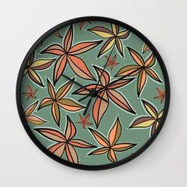 Aqua Retro Starfish Wall Clock