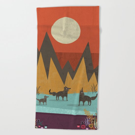 Wolves Beach Towel