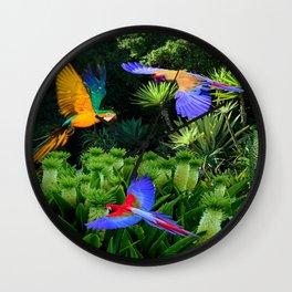 Jungle Paradise Wall Clock