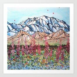 Denali Fireweed Art Print