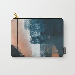 Vienna: a minimal, abstract mixed-media piece in pinks, blue, and white by Alyssa Hamilton Art Carry-All Pouch