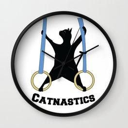 Catnastics Rings Wall Clock