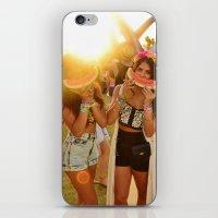 coachella iPhone & iPod Skins featuring Coachella Festival by Cactus And Fog