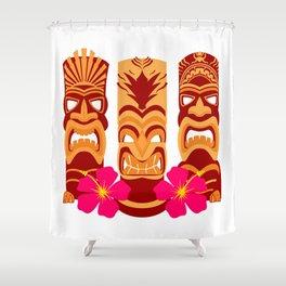 Tiki Statues Set Shower Curtain