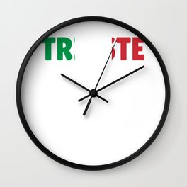 Trieste Italy flag holiday gift Wall Clock