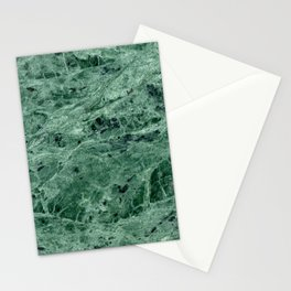 Green Marble Print Stationery Cards