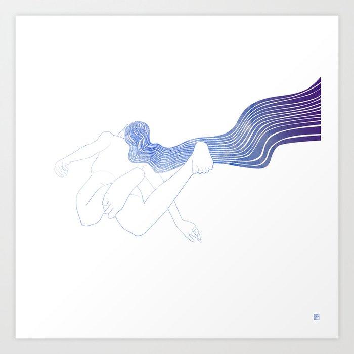 Water Nymph LV Art Print
