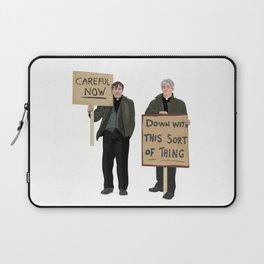 """""""DOWN WITH THIS SORT OF THING!..careful now"""" Laptop Sleeve"""
