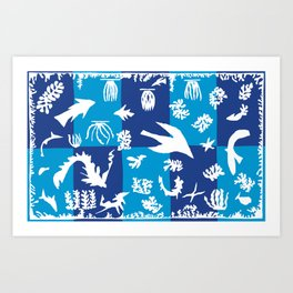 Matisse Cut Out Collage - Seascape Art Print