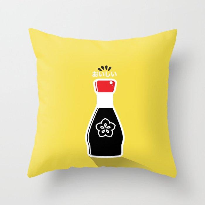 In My Fridge - Soy Sauce Throw Pillow