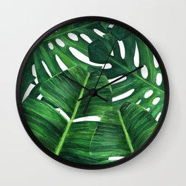 Tropical palm art Wall Clock