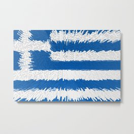 Extruded flag of Greece Metal Print
