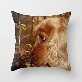 Dog Cocker Spaniel Throw Pillow