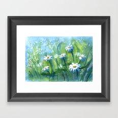 Daisies I Framed Art Print