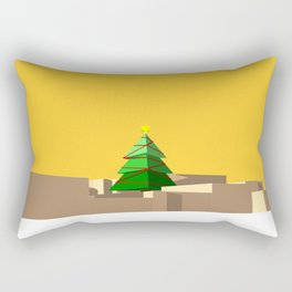 Christmas Building Rectangular Pillow