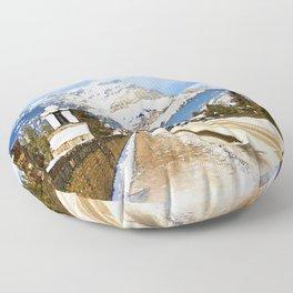 Cascade Mountain - Banff  Alberta Canada Floor Pillow