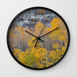 Aspen Fall Foliage 4 Wall Clock
