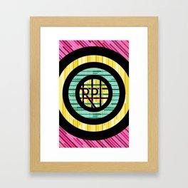 RPL letters Framed Art Print