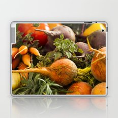 Mixed Organic Vegetables With Tomatoes Beets & Carrots In Wood Box Laptop & iPad Skin