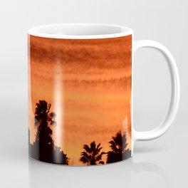Blood Orange Sunset Over Small Desert Town Coffee Mug