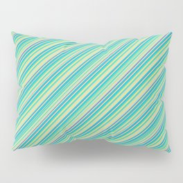 Lime Inclined Stripes Pillow Sham