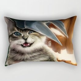 Pumpkin Cat Rectangular Pillow