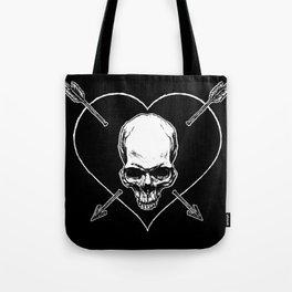 Eros & Thanatos (Jolly Roger Black Flag) Tote Bag