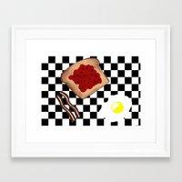 breakfast Framed Art Prints featuring Breakfast by Sartoris ART