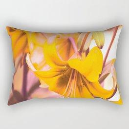 Yellow Lilies In The Garden #decor #society6 #buyart Rectangular Pillow