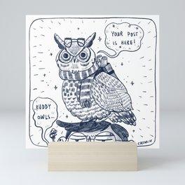 Ruddy Owls Mini Art Print