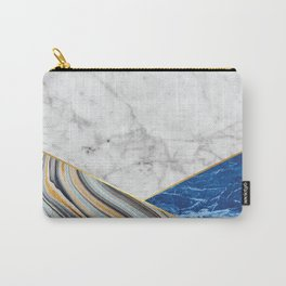 White Marble Blue Marble & Blue Granite #167 Carry-All Pouch