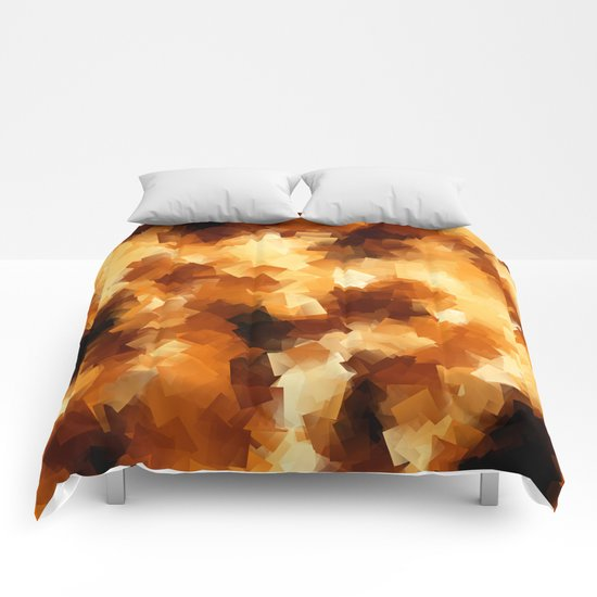 Cubist Fire Comforters