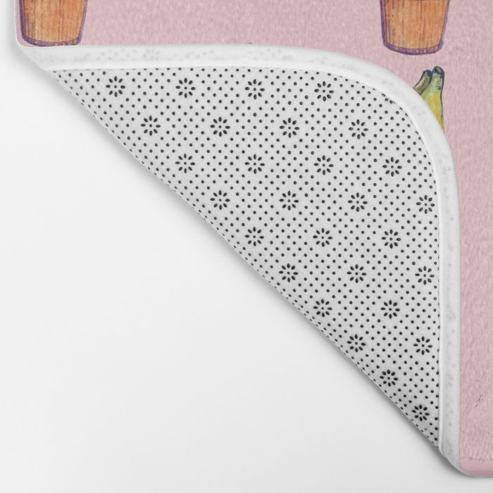 For Her (cactus and Bananas) Bath Mat