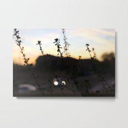 Car and Sunset Metal Print