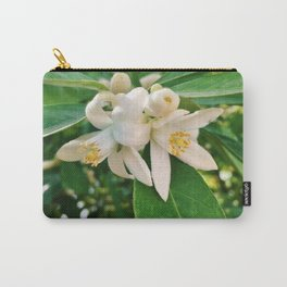 Orange Blossoms Carry-All Pouch