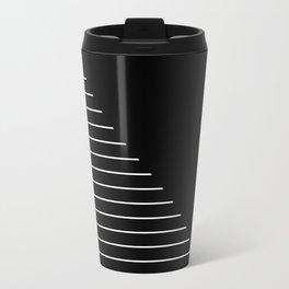 Descent (Abstract, black and white minimalism) Travel Mug