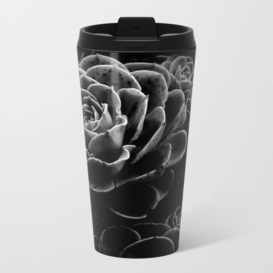 Succulents in the Shadows Metal Travel Mug