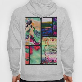 Textured Collage Hoody