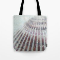 seashell Tote Bags featuring SEASHELL by Christina Lynn Williams