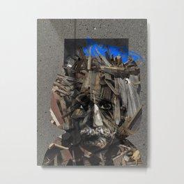 Urban Einstein Metal Print