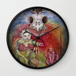 The Surrogate Mother-Goddess of Wisdom holding Alter-Ego Baby Bogomil Wall Clock