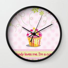 Cupcake Love Wall Clock