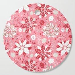 Poinsettia Cutting Board