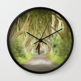 Through the Hedges Wall Clock