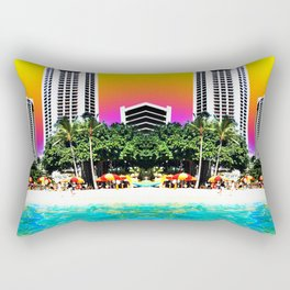 Waikiki Beach II Rectangular Pillow