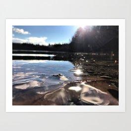 Drops in Walden Pond Art Print