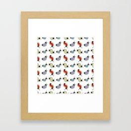 Wiggily Cartoon Colourful Caterpillars Framed Art Print